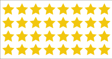 MC-150SG Gold Stars(32/sheet)
