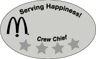 MC-156E - MC-156E Serving Happiness - Crew Chief (10/PK)